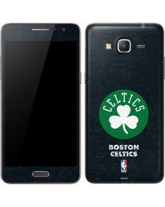 Boston Celtics Black Secondary Logo Galaxy Grand Prime Skin