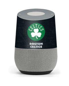 Boston Celtics Black Secondary Logo Google Home Skin