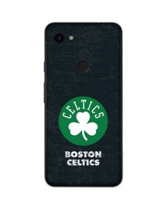 Boston Celtics Black Secondary Logo Google Pixel 3a Skin