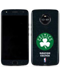Boston Celtics Black Secondary Logo Moto X4 Skin