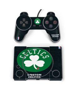 Boston Celtics Black Secondary Logo PlayStation Classic Bundle Skin