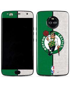 Boston Celtics Canvas Moto X4 Skin