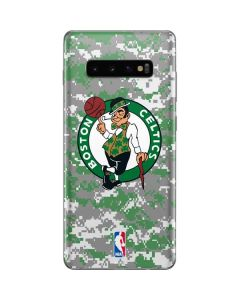 Boston Celtics Digi Camo Galaxy S10 Plus Skin