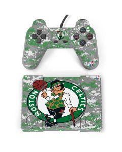 Boston Celtics Digi Camo PlayStation Classic Bundle Skin
