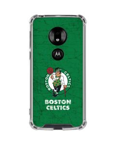 Boston Celtics Green Primary Logo Moto G7 Play Clear Case