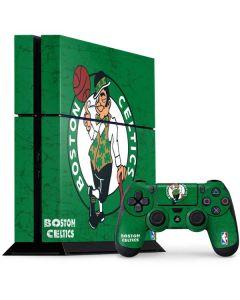 Boston Celtics Green Primary Logo PS4 Console and Controller Bundle Skin