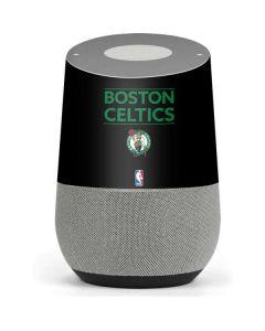 Boston Celtics Standard - Black Google Home Skin