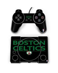 Boston Celtics Standard - Black PlayStation Classic Bundle Skin