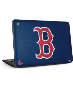 Boston Red Sox - Solid Distressed HP Chromebook Skin