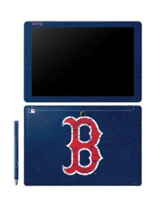 Boston Red Sox - Solid Distressed Galaxy Book 10.6in Skin