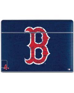 Boston Red Sox - Solid Distressed Galaxy Book Keyboard Folio 10.6in Skin