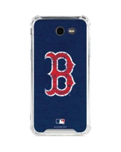 Boston Red Sox - Solid Distressed Galaxy J3 (2017) Clear Case