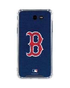 Boston Red Sox - Solid Distressed Galaxy J7 (2017) Clear Case