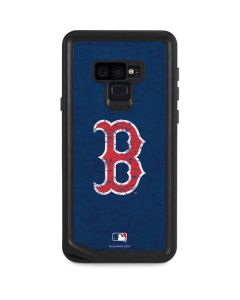 Boston Red Sox - Solid Distressed Galaxy Note 9 Waterproof Case