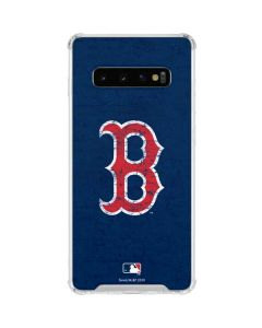 Boston Red Sox - Solid Distressed Galaxy S10 Clear Case