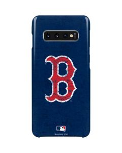 Boston Red Sox - Solid Distressed Galaxy S10 Plus Lite Case