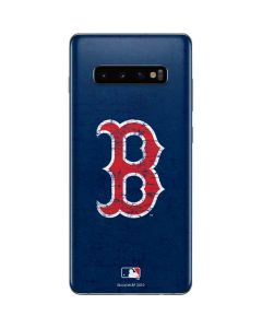 Boston Red Sox - Solid Distressed Galaxy S10 Plus Skin