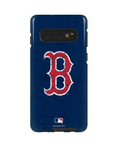 Boston Red Sox - Solid Distressed Galaxy S10 Pro Case