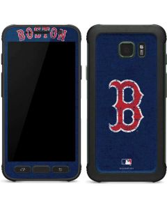 Boston Red Sox - Solid Distressed Galaxy S7 Active Skin