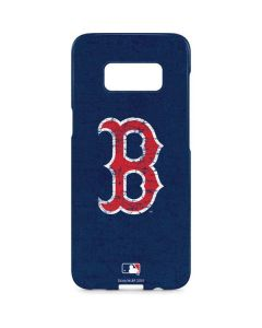 Boston Red Sox - Solid Distressed Galaxy S8 Plus Lite Case