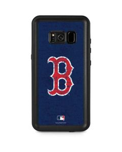 Boston Red Sox - Solid Distressed Galaxy S8 Plus Waterproof Case