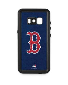 Boston Red Sox - Solid Distressed Galaxy S8 Waterproof Case