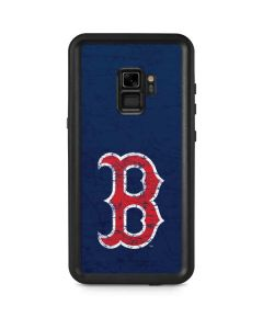 Boston Red Sox - Solid Distressed Galaxy S9 Waterproof Case