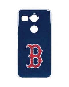 Boston Red Sox - Solid Distressed Google Nexus 5X Clear Case