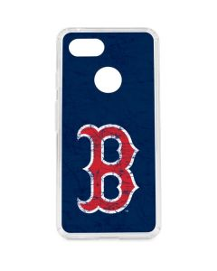 Boston Red Sox - Solid Distressed Google Pixel 3 Clear Case