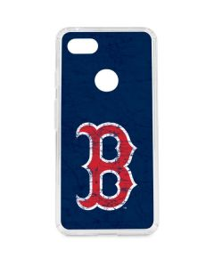 Boston Red Sox - Solid Distressed Google Pixel 3 XL Clear Case