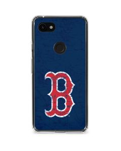 Boston Red Sox - Solid Distressed Google Pixel 3a Clear Case
