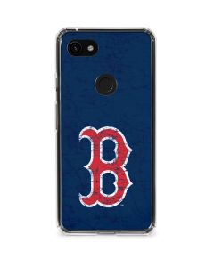 Boston Red Sox - Solid Distressed Google Pixel 3a XL Clear Case