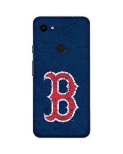 Boston Red Sox - Solid Distressed Google Pixel 3a XL Skin