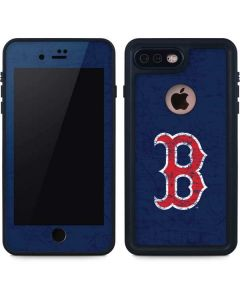 Boston Red Sox - Solid Distressed iPhone 7 Plus Waterproof Case