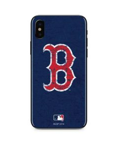 Boston Red Sox - Solid Distressed iPhone X Skin