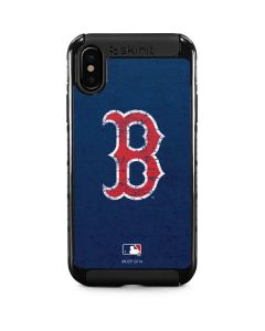 Boston Red Sox - Solid Distressed iPhone XS Cargo Case
