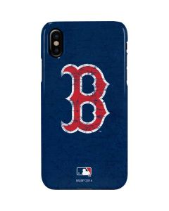 Boston Red Sox - Solid Distressed iPhone XS Lite Case