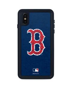 Boston Red Sox - Solid Distressed iPhone XS Max Waterproof Case