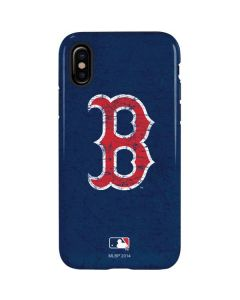 Boston Red Sox - Solid Distressed iPhone XS Pro Case