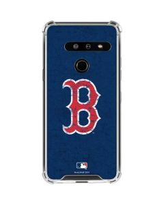 Boston Red Sox - Solid Distressed LG G8 ThinQ Clear Case