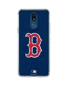Boston Red Sox - Solid Distressed LG K30 Clear Case