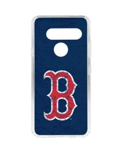 Boston Red Sox - Solid Distressed LG V40 ThinQ Clear Case