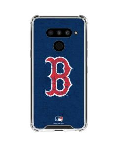 Boston Red Sox - Solid Distressed LG V50 ThinQ Clear Case