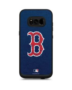 Boston Red Sox - Solid Distressed LifeProof Fre Galaxy Skin