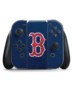 Boston Red Sox - Solid Distressed Nintendo Switch Joy Con Controller Skin
