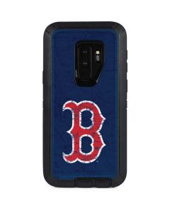 Boston Red Sox - Solid Distressed Otterbox Defender Galaxy Skin