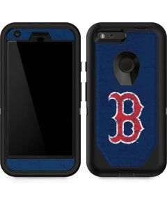 Boston Red Sox - Solid Distressed Otterbox Defender Pixel Skin