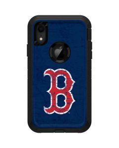 Boston Red Sox - Solid Distressed Otterbox Defender iPhone Skin
