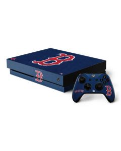 Boston Red Sox - Solid Distressed Xbox One X Bundle Skin