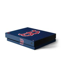 Boston Red Sox - Solid Distressed Xbox One X Console Skin